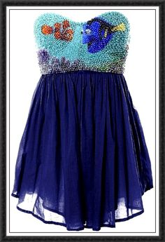 Finding Nemo dress, make it longer and I have my prom dress, why couldn't I find this before homecoming?