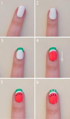 Watermelon nails!!