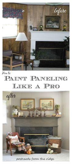 how to paint panelin