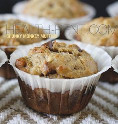 Chunky Monkey Muffins: I've made these and they are definitely the best paleo muffins I've ever had! In fact, they are better than some of the regular muffins I've made!