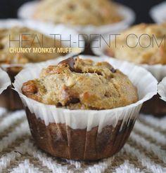 Paleo Chunky Monkey Muffins #paleo #grainfree #glutenfree