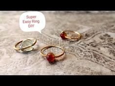 Just use some simple materials to make the stylish ring. It can be matched with any styles. You can make it in around 5 minutes. If you enjoyed. Diy Wire Rings Easy, Wire Rings Tutorial, Ring Tutorial, Wire Jewelry Rings, Wire Jewelry Making, Beaded Rings, Wire Earrings, Jewlery, Handmade Rings