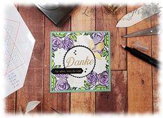 Gänseblümchengruß Blütentraum Kranz Schablone Stamparatus Stampin' Up!