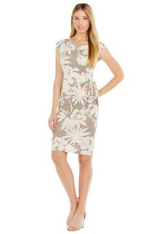 Cato Fashions Floral Side Tie Knit Dress #CatoFashions - wear to work after returning from vacation