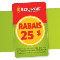Ce week-end, obtenez un coupon rabais de 25 $ de La Source avec tout achat.