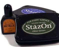 StazOn Ink Basics  Learn the basics of using StazOn Ink on surfaces like metal, leather, aluminum foil, plastic, cellophane, acrylic, and glass.