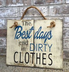 Dirty Clothes Rustic Sign  Bathroom Decor  Laundry by RedRoanSigns