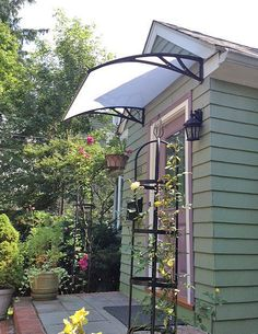 Windows & Door Awnings-Canopy Door #Awnings - Custom, Affordable Clear Polycarbonate sheets 【only 99$】