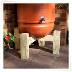 Rain Barrel Stand idea