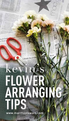 Kevin's Flower-Arranging Tips | Martha Stewart Living - Spring flowers from Martha's garden, arranged by Kevin, provide a refresher course in the elements of design: color, structure, and texture.
