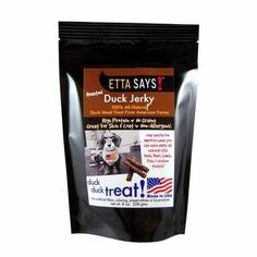 Etta Says Roasted Duck Jerky All Natural High Protein Yummy Dog Snack Treats 8z