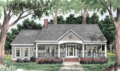 Southern Style House Plan - 3 Beds 2 Baths 1680 Sq/Ft Plan - Country House Plan with 1680 Square Feet and 3 Bedrooms from Dream Home Source