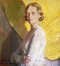William Nicholson - Portrait of Diana Low, 1933 William Nicholson, Winifred Nicholson, Painting Workshop, Guache, Irish Art, Royal College Of Art, Painting People, Traditional Paintings, Light Painting