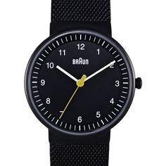 Braun BN0031 (black/black) watch by Braun. Available at Dezeen Watch Store: www.dezeenwatchstore.com