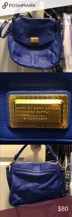Marc by Marc Jacobs bright blue purse Bright blue Marc by Marc Jacobs leather purse, EUC. I bought it from last chance so the price I paid is written in the inside pocket. Marc By Marc Jacobs Bags