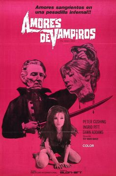 Spanish poster for The Vampire Lovers (1971) Except for the raciest parts, I really liked this movie.