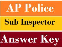 AP Police SI Answer Key 2016