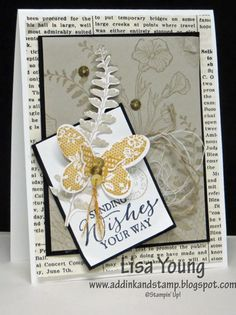 Butterfly Basics in Earth tones by genesis - Cards and Paper Crafts at Splitcoaststampers