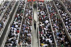 Beijing, China subway line security