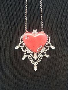 Queen of  hearts princess  necklace by ninasoriginals on Etsy