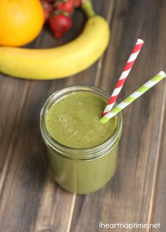 Healthy and delicious green sunrise smoothie ...perfect for summer!