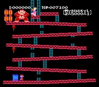 """Donkey Kong - Explaining to my seven year old how Wreck-It Ralph is based on old video game made me think of the """"old days""""."""