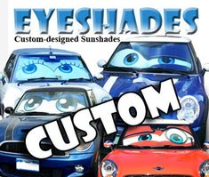 Eyeshades Custom eyes for your car by ArtisticReflection on Etsy The Rock, Mini Cooper Models, Fire Eyes, Nerd, Custom Eyes, Benz C, Car Colors, Car Makes, Useful Life Hacks