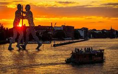 Berlin at the sunset; Ansa Agency