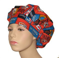 d258ade74d4 Bouffant Surgical Scrub Hats Oklahoma City Thunder by ScrubHeads Nurse  Hairstyles