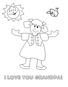 I love you grandpa coloring page | Art | Pinterest
