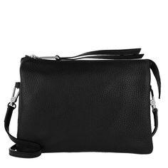 Abro Adria Leather Crossbody 2 Black/Nickel i svart Leather Crossbody, Crossbody Bag, Black Cross Body Bag, Bags, Handbags, Shoulder Bag, Cross Body Bags, Bag, Shoulder Bags