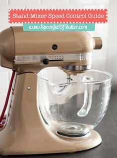 Stand Mixer Speed Control Guide: Recipes always call for medium-low speed, or medium-high speed when mixing using a stand mixer. If you can't tell which speed to use, take a look at this quick guide for stand mixer speeds. Kitchen Aid Recipes, Kitchen Aid Mixer, Kitchen Hacks, Kitchen Stuff, Kitchen Gadgets, Loaf Bread Recipe, Stand Mixer Recipes, Cinnamon Loaf, Kitchenaid Stand Mixer