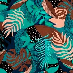 Lunar Criativo has 87 royalty-free patterns available for purchase - Patternbank Tropical Prints, Textile Design, Print Patterns, Royalty, Women Wear, Textiles, Free, Creativity, Polka Dots