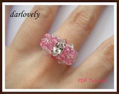 50% OFF! Crystal Navette Twin Pink Flowers Ring | JewelryLessons.com