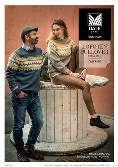 Norwegian unisex pullover sweater knitting pattern from Dale Garn Norwegian Men, Norwegian Knitting, Fair Isle Knitting Patterns, Sweater Knitting Patterns, Knitting Sweaters, Pullover Sweaters, Men Sweater, Icelandic Sweaters, Lofoten