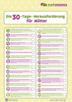 Die 30-Tage-Herausforderung für Mütter - Kinder, Erziehung   NetMoms.de