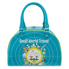cfddda0fbbc Disney Parks It s a Small World Travel Bowler Bag by Perillo PU Length 8  inc, width inc Height Inc new