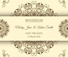 Vintage wedding invitations with floral ornaments in vector Vector Free Download, Merry Jane, Vintage Wedding Invitations, Vintage Frames, Save The Date, Clip Art, Place Card Holders