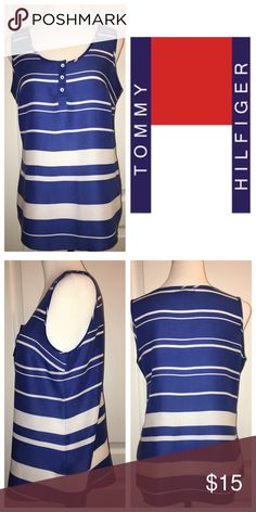 TOMMY HILFIGER TOP Like New! Beautiful and cool Rayon top.  So lightweight, perfect for packing! 💼✈️ Tommy Hilfiger Tops