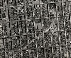 San francisco historical aerial photos - central 111 college night images