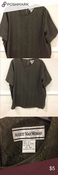 August Max 16W silk top good condition Size 16W August Max silk top good condition August Max Tops