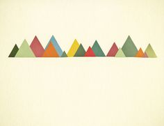 Poster | MOUNTAIN RANGE von Cassia Beck | more posters at http://moreposter.de