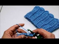 Aprenda a tejer un Reborder para bota en crochet - YouTube