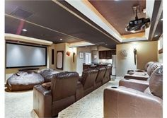 My favorite spot in this home theater would on one of those huge bean bags. Northbrook, IL $2,349,000