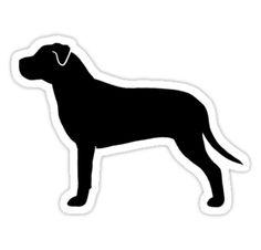 American Pit Bull Terrier Silhouette by Jenn Inashvili