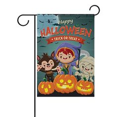 u life decorative happy halloween garden yard flag banner for outside house flower pot double side print polyester 40 x 28 12 x 18 inch continue to the