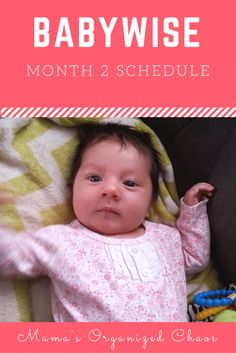 Babywise Baby Schedule Month 2