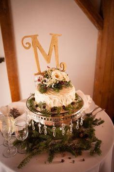 Winter Rustic Wedding Cake