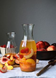 Summer Stone Fruit White Sangria: http://www.stylemepretty.com/living/2015/06/20/22-game-changing-sangria-recipes/