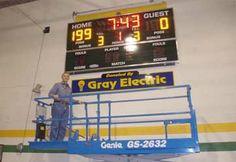 Install new school scoreboard in Mauston WI by Gray Electric